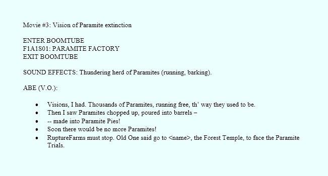 Vision of Paramite extinction